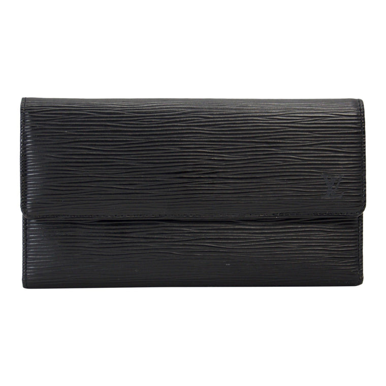 Louis Vuitton Black Epi International Wallet