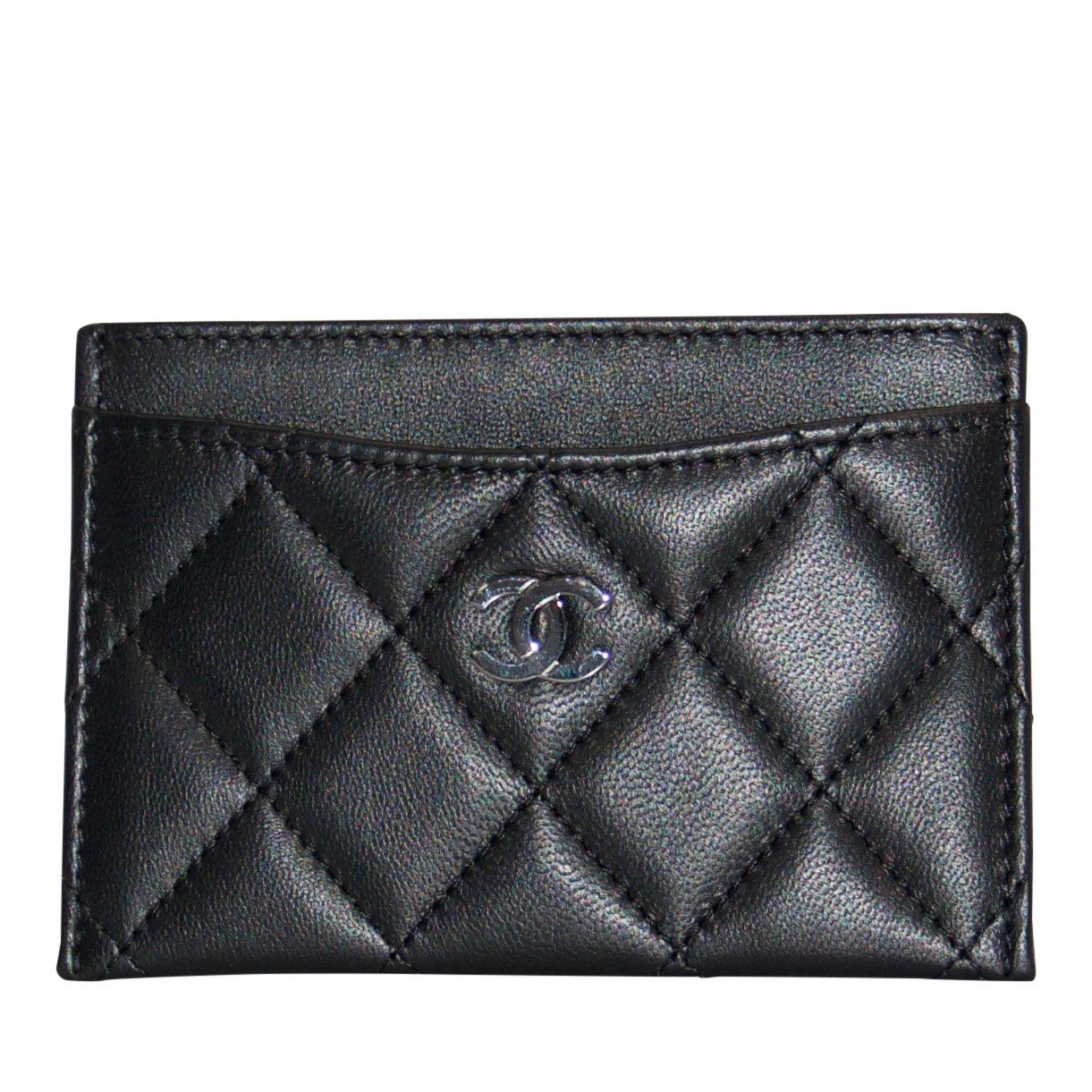 3000abd0f30645 Chanel Black Lambskin Classic Card Holder Wallets Chanel ...