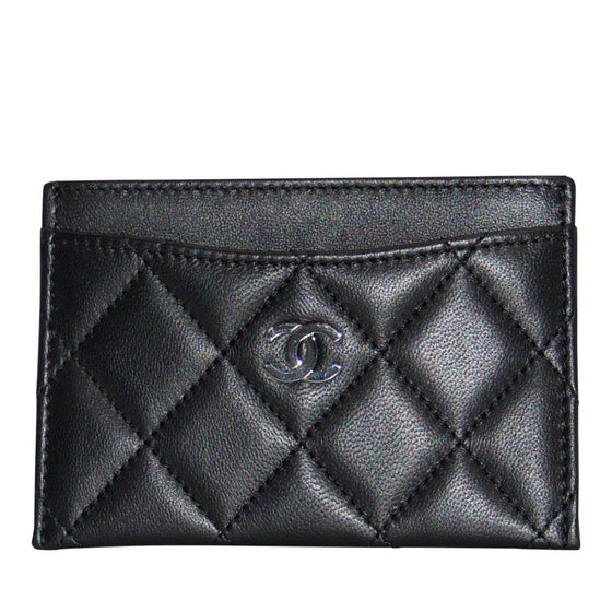 Chanel Black Lambskin Classic Card Holder