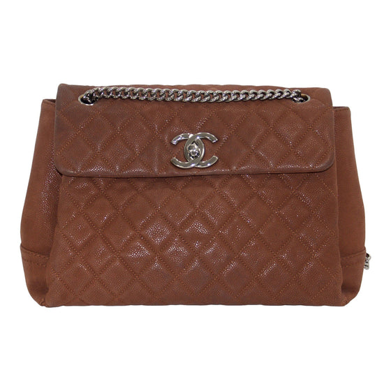 Chanel Brown Caviar Lady Pearly Flap Bag