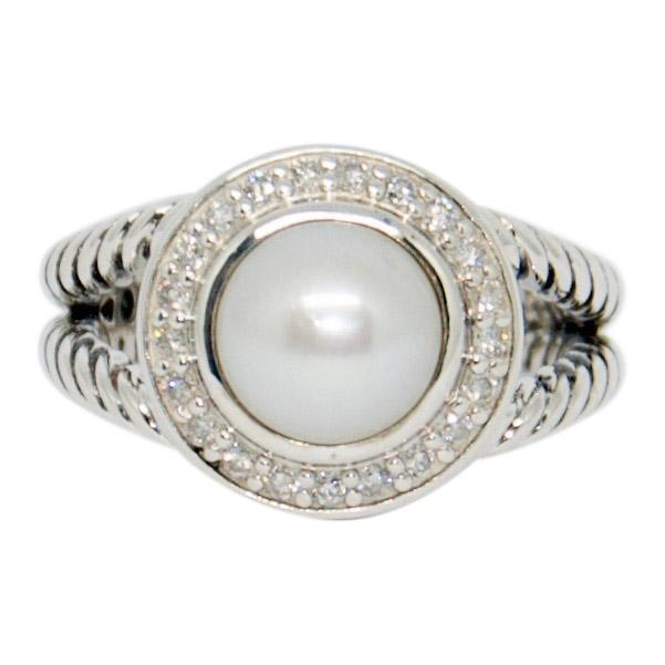 David Yurman Pearl Ring With Diamonds - Rings