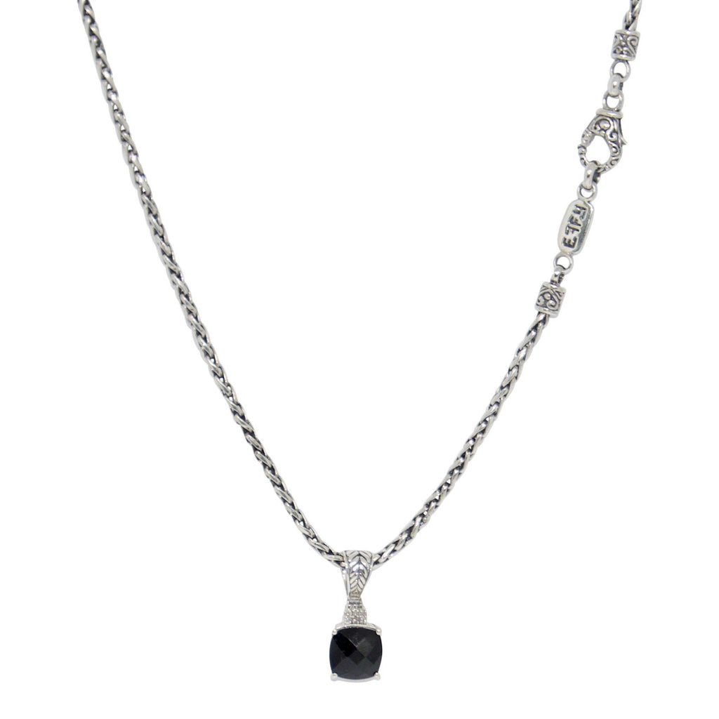 Effy Black Onyx and Diamond Pendant Necklace Necklaces EFFY