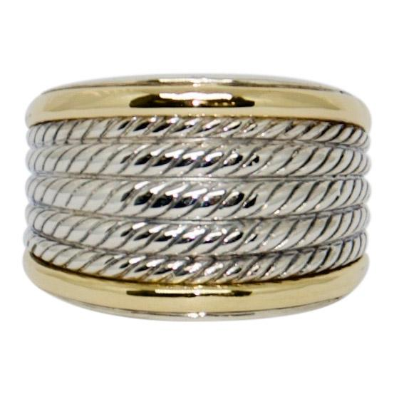 David Yurman Two-Tone Wheaton Band Ring Rings David Yurman