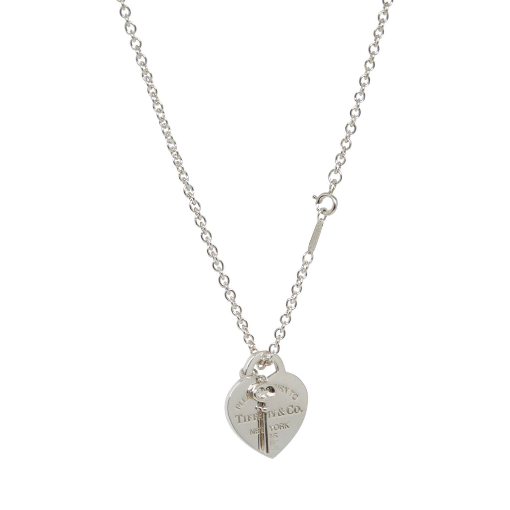 Tiffany & Co. Return to Tiffany Heart Tag and Key Pendant Necklace
