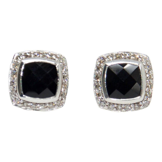 David Yurman Albion Earrings With Black Onyx And Diamonds - Earrings