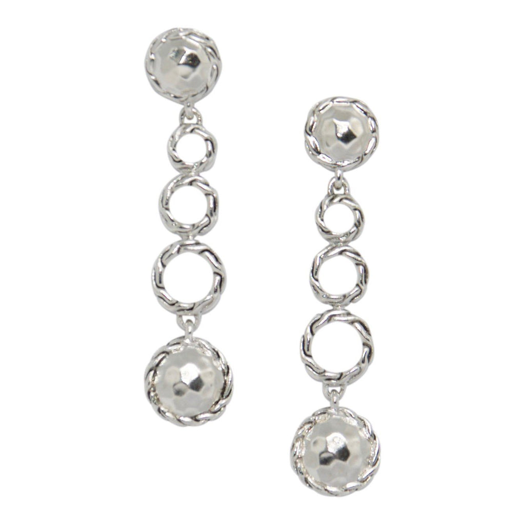 John Hardy Hammered Silver Drop Earrings - Earrings