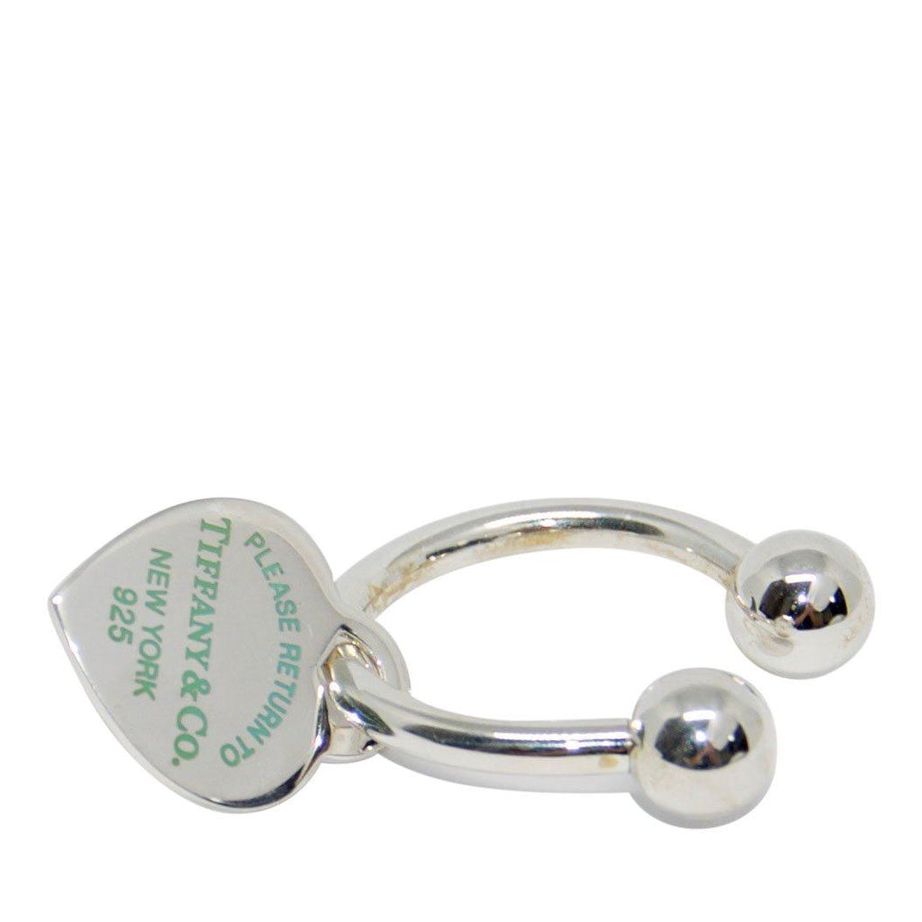 Tiffany & Co. Return to Tiffany Heart Tag Key Ring with Enamel Finish