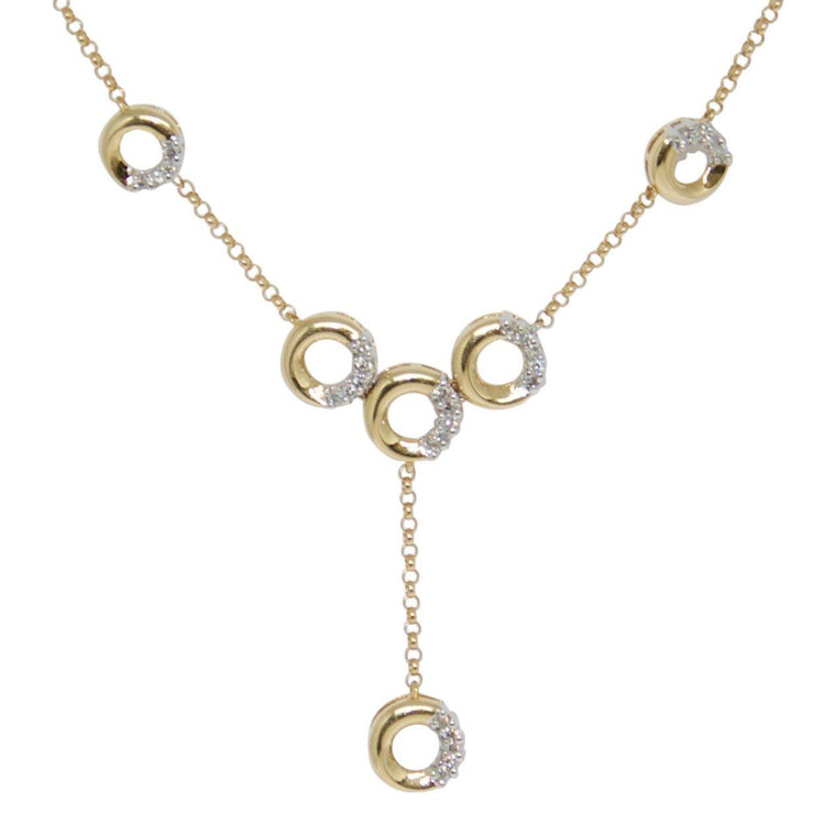 Drop Necklace with Diamonds