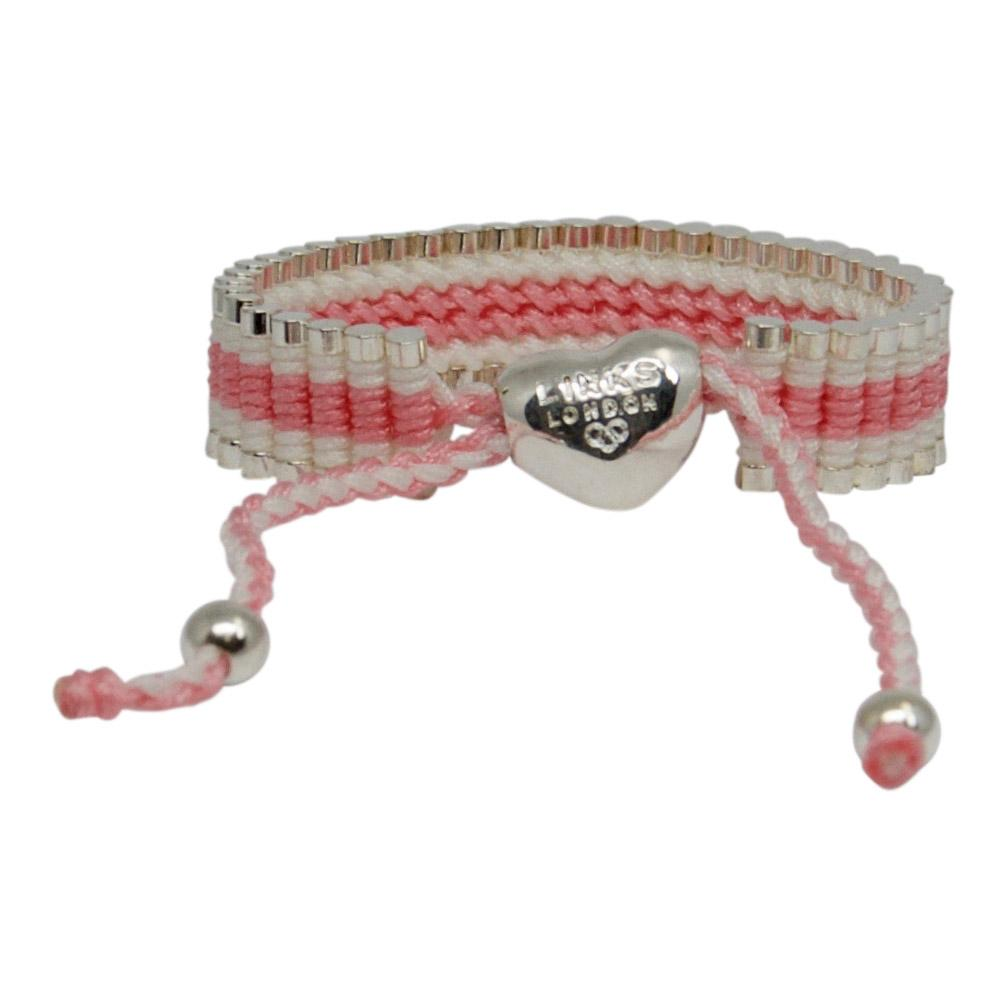 Links of London Pink and White Friendship Bracelet Bracelets Links of London