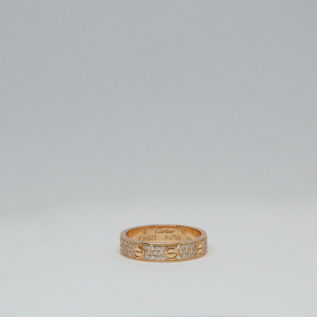 Cartier Pave Diamond Love Ring - Rings