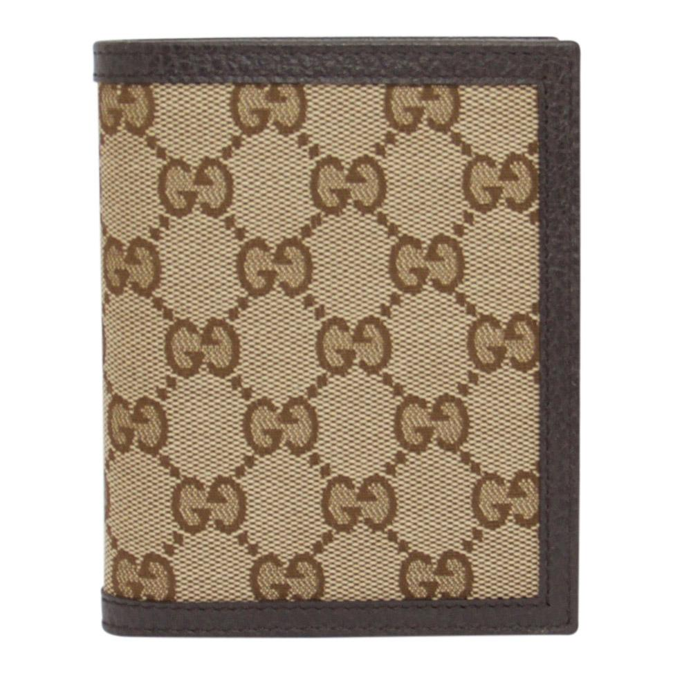 14c21a57244d93 Gucci GG Canvas and Leather Bifold Wallet Wallets Gucci ...