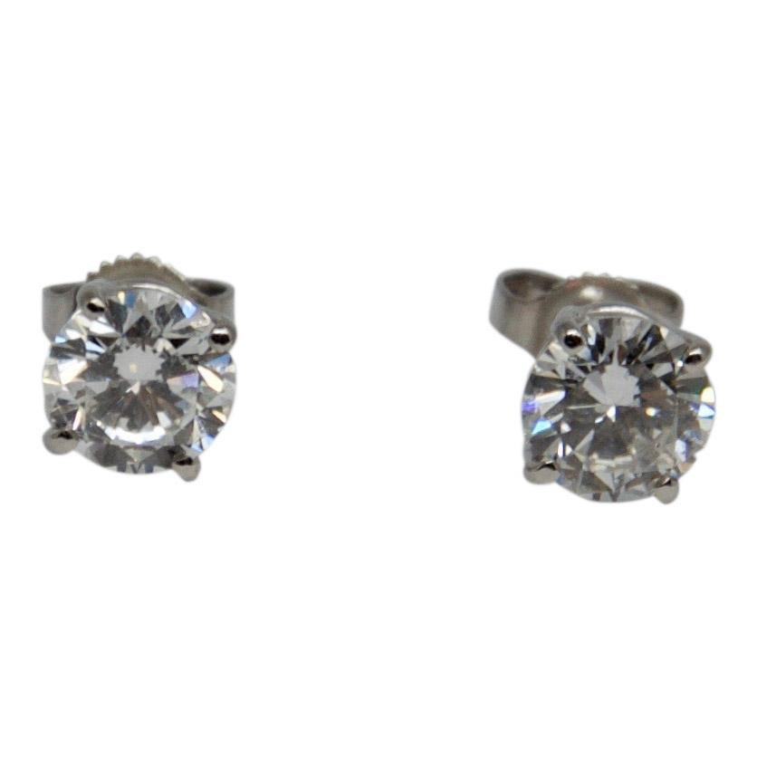 Diamond Stud Earrings - Earrings