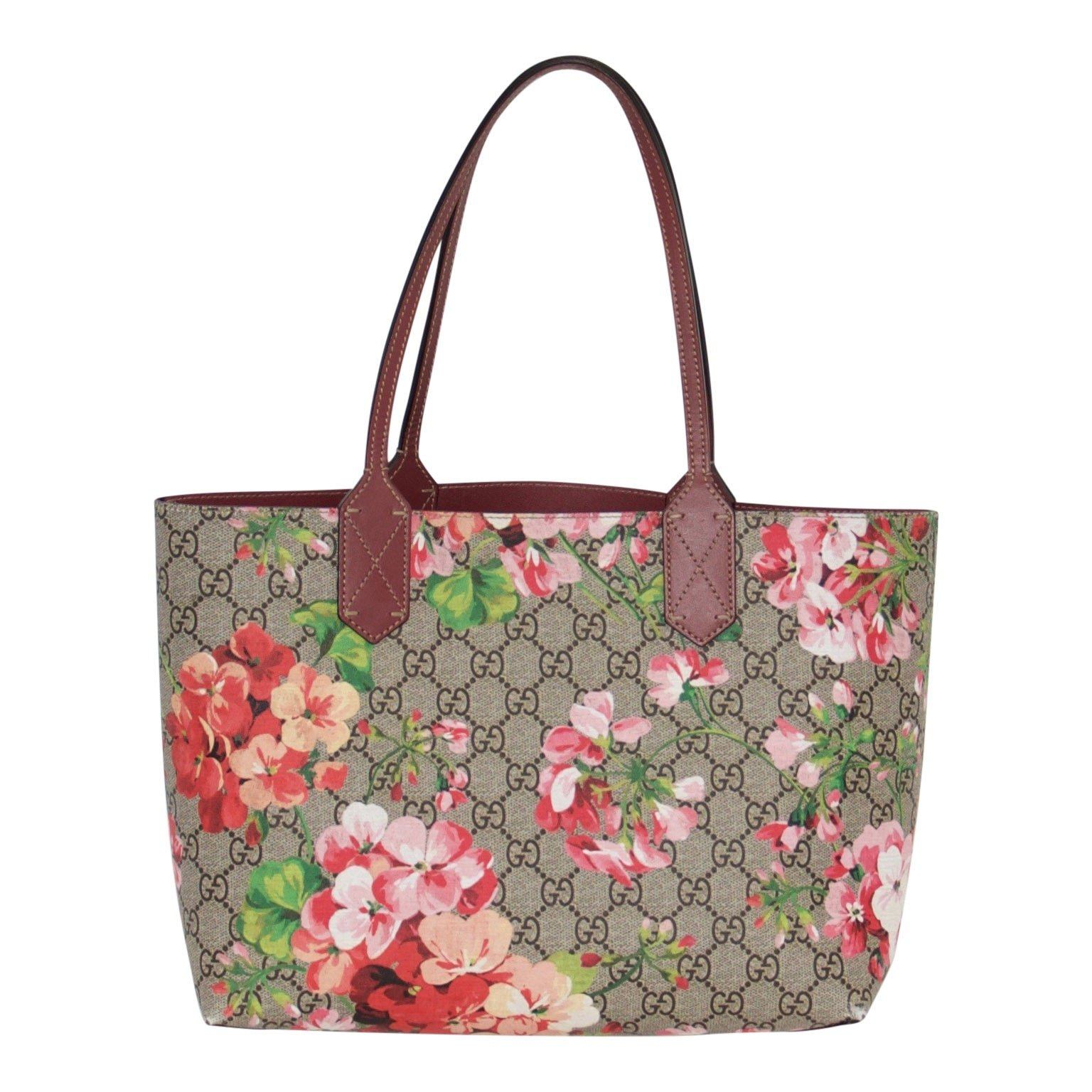 4edee45d544 Gucci Reversible GG Supreme Blooms Tote - Oliver Jewellery