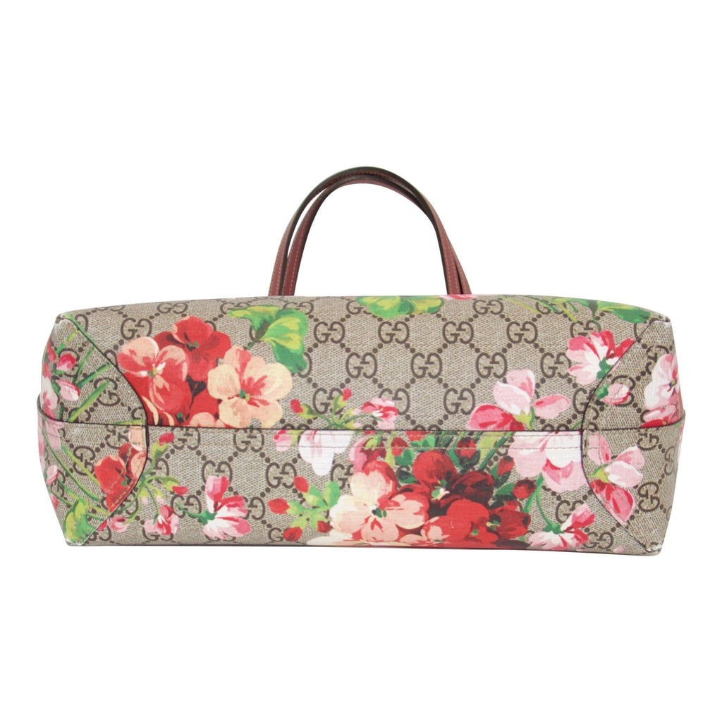 Gucci Reversible GG Supreme Blooms Tote Bags Gucci
