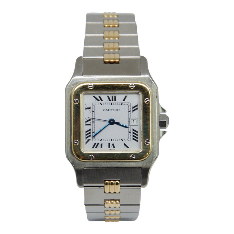 Cartier 2-Tone Santos Galbee Watch