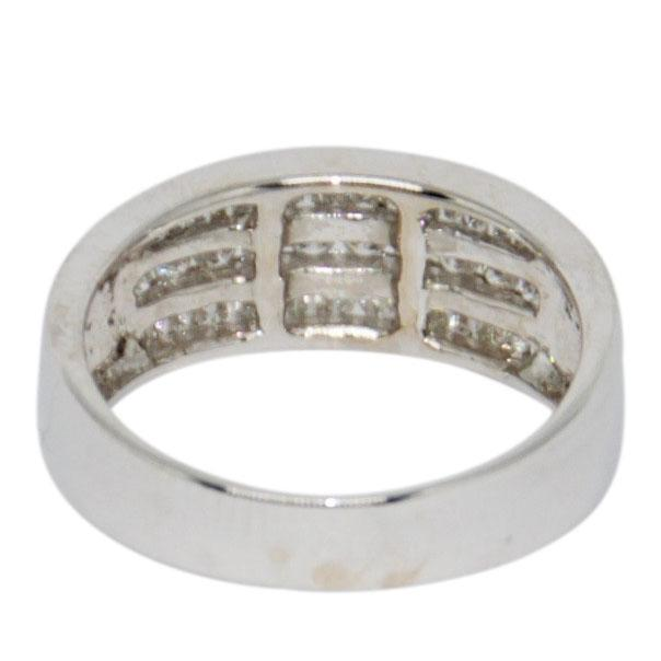 Three-Row Channel-Set Diamond Ring