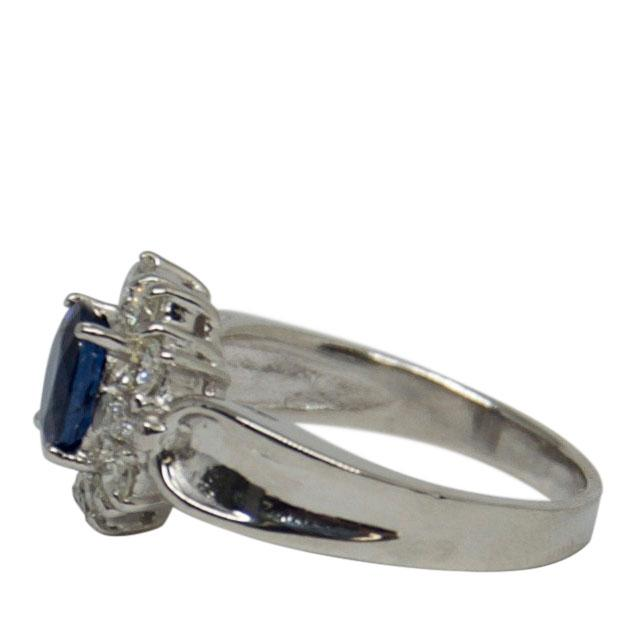 Blue Sapphire & Diamond Cocktail Ring