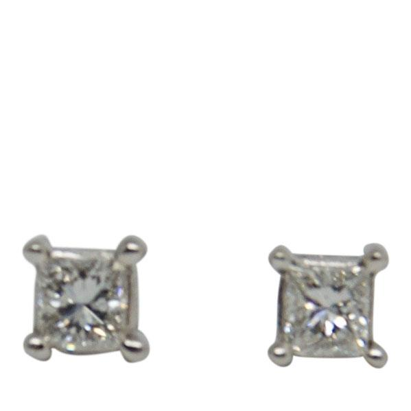 Princess Cut Diamond Stud Earrings Earrings Miscellaneous