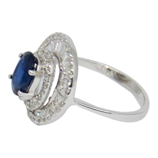 Sapphire and Diamond Cocktail Ring Rings Miscellaneous