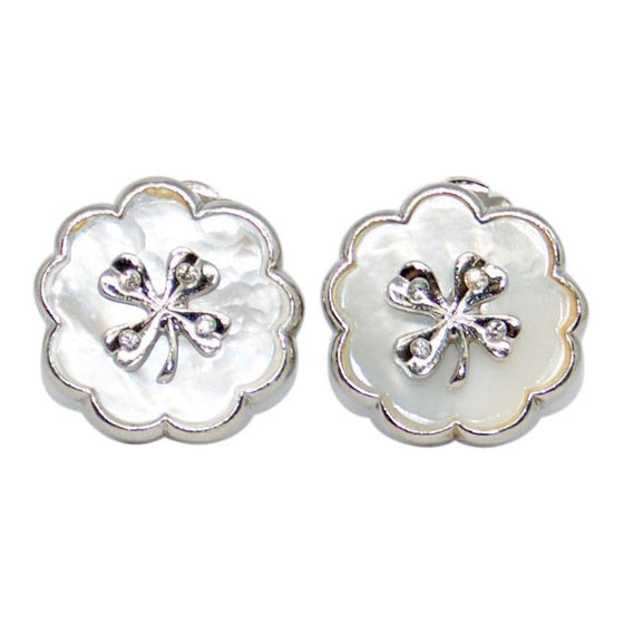 Chanel Mother of Pearl Clip-On Earrings Earrings Chanel