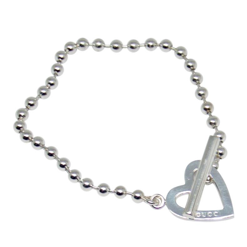 386e5b23bab8d Gucci Boule Chain Bracelet with Heart Toggle Clasp - Oliver Jewellery