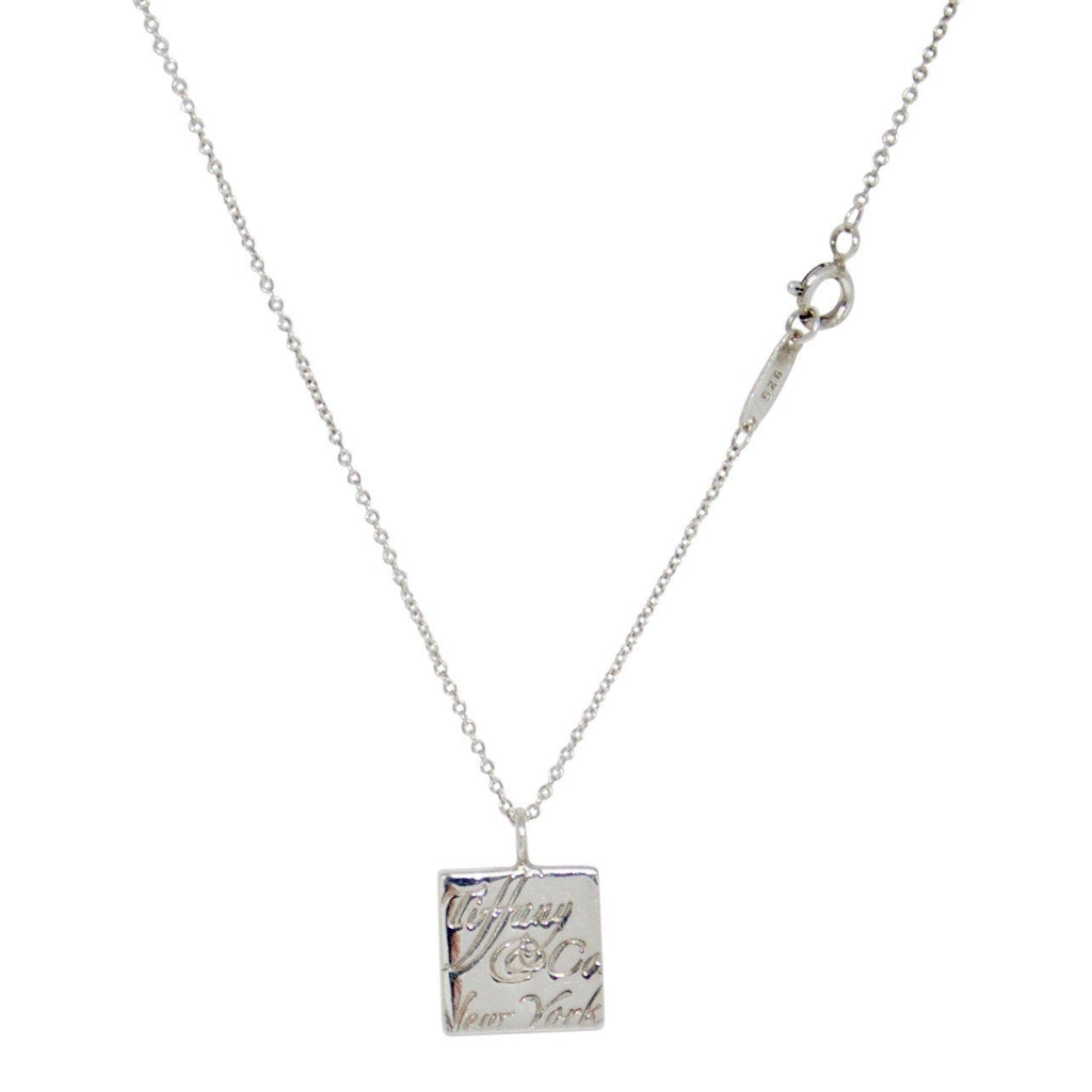 Tiffany & Co. Square Notes Pendant Necklace - Necklaces