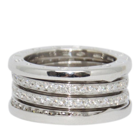 Bulgari B.Zero1 4-Band Ring with Pave Diamonds Rings Bulgari