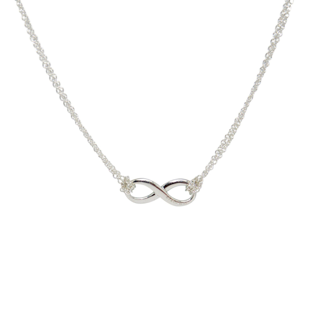 Tiffany & Co. Infinity Pendant Necklace with Blue Enamel Necklaces Tiffany & Co.