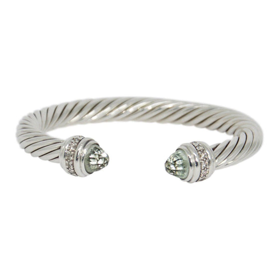 David Yurman Cable Classics Bracelet With Prasiolite And Diamonds - Bracelets