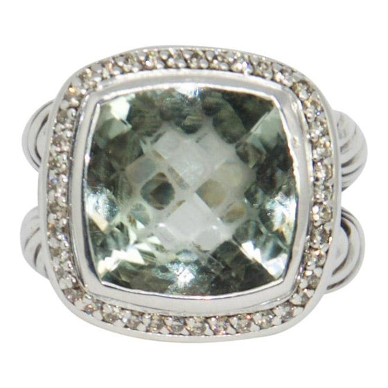 David Yurman Albion Ring With Prasiolite And Diamonds - Rings