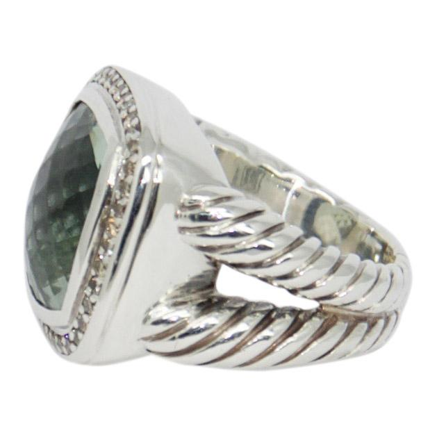 David Yurman Albion Ring with Prasiolite and Diamonds Rings David Yurman