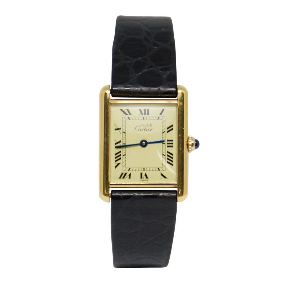 Cartier Must de Cartier Tank Vermeil Watch Watches Cartier