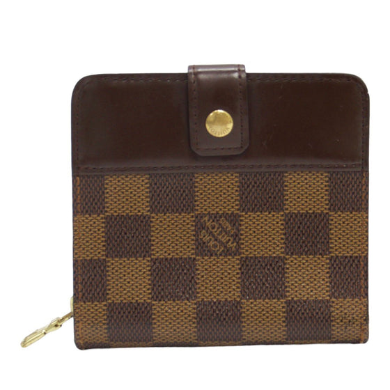 Louis Vuitton Damier Ebene Zippe Compact Wallet Wallets Louis Vuitton
