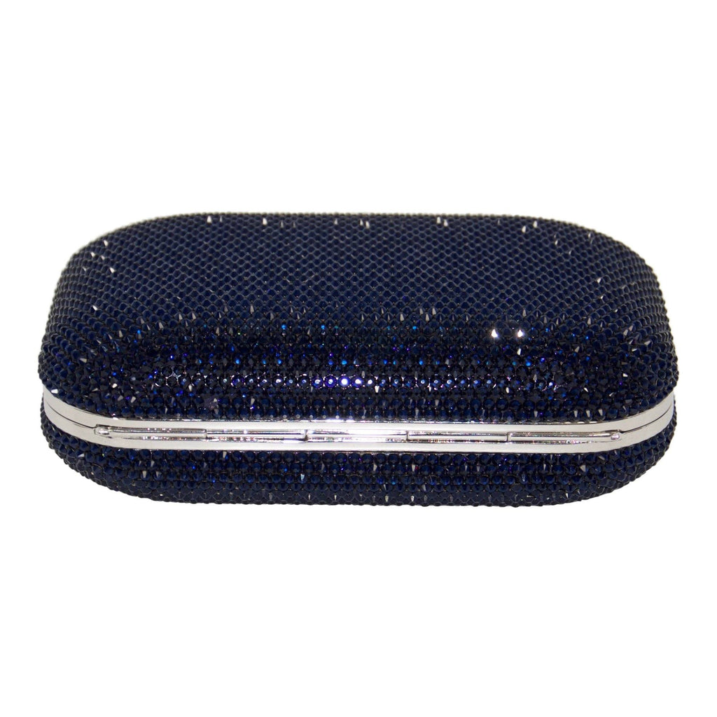 Judith Leiber Blue Slide Lock Clutch Bags Miscellaneous