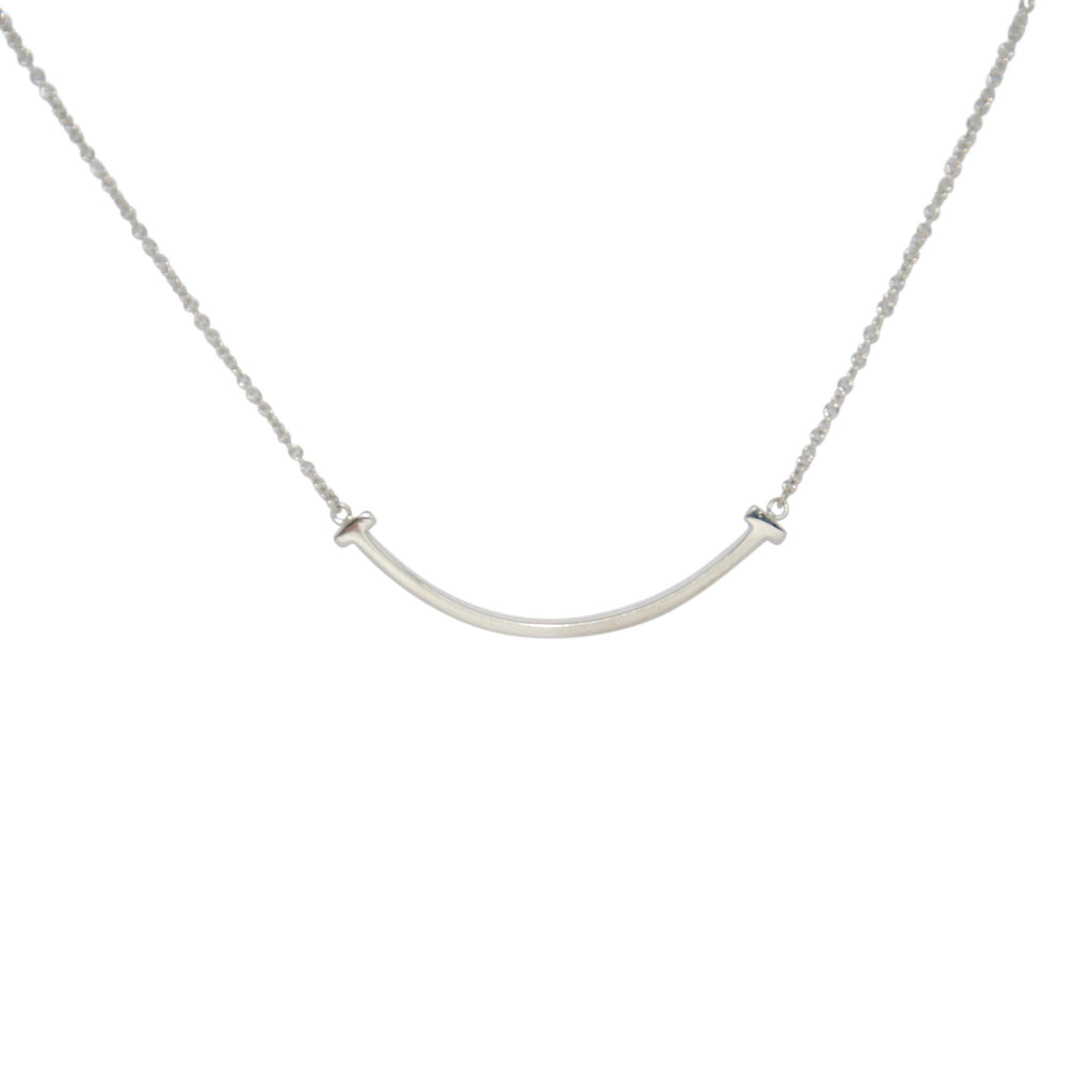 Tiffany & Co. Mini T Smile Pendant Necklace Necklaces Tiffany & Co.