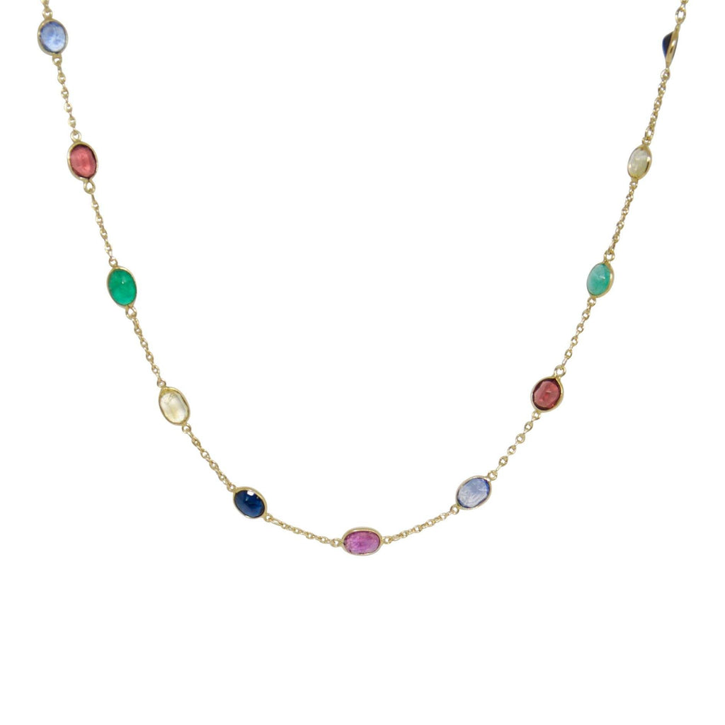 Coloured Stone Station Necklace Necklaces Miscellaneous
