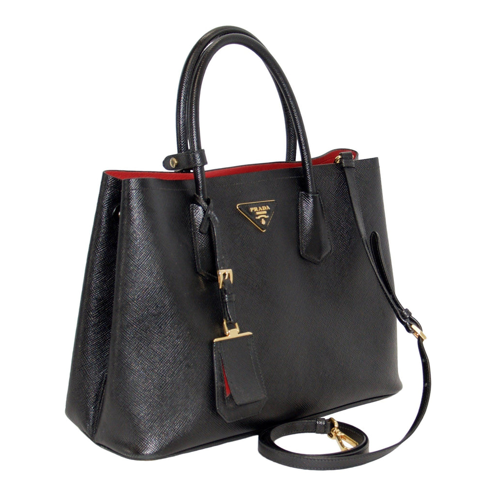 Prada Medium Saffiano Cuir Double Tote