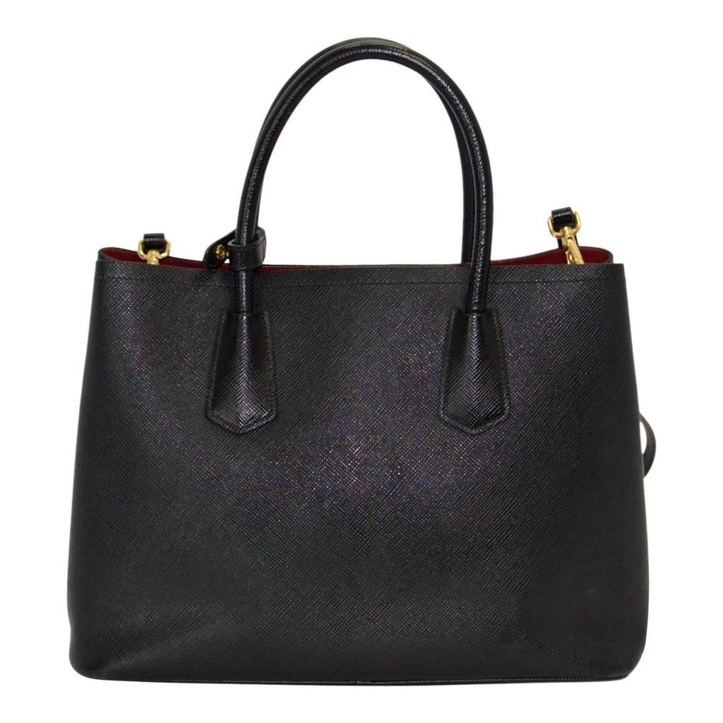 Prada Medium Saffiano Cuir Double Tote - Bags