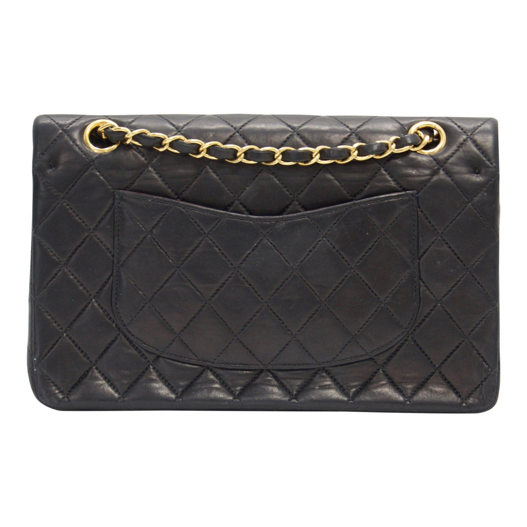 Chanel Black Lambskin Medium Classic Double Flap Bag Bags Chanel