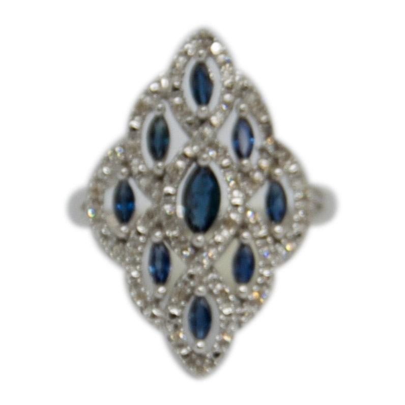 Sapphire and Diamond Ring Rings Miscellaneous