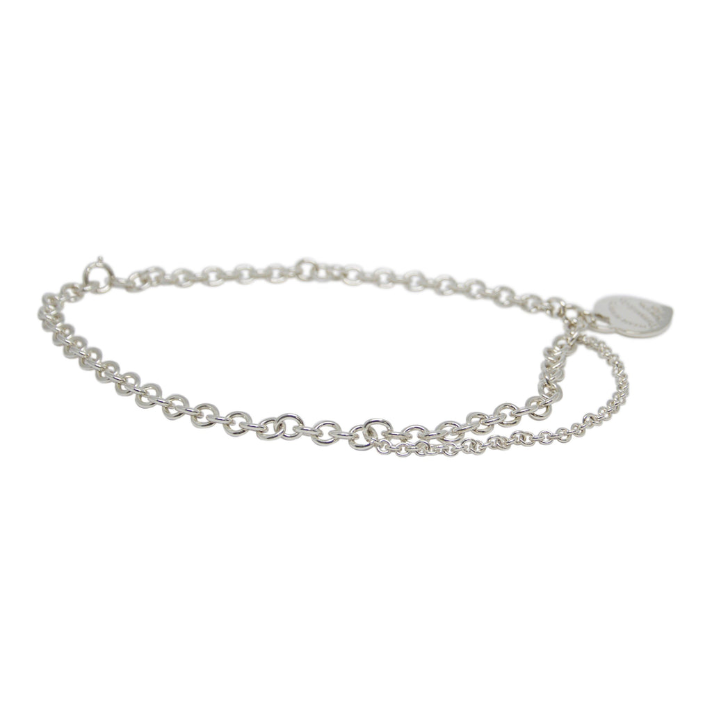Tiffany & Co. Double Chain Heart Necklace