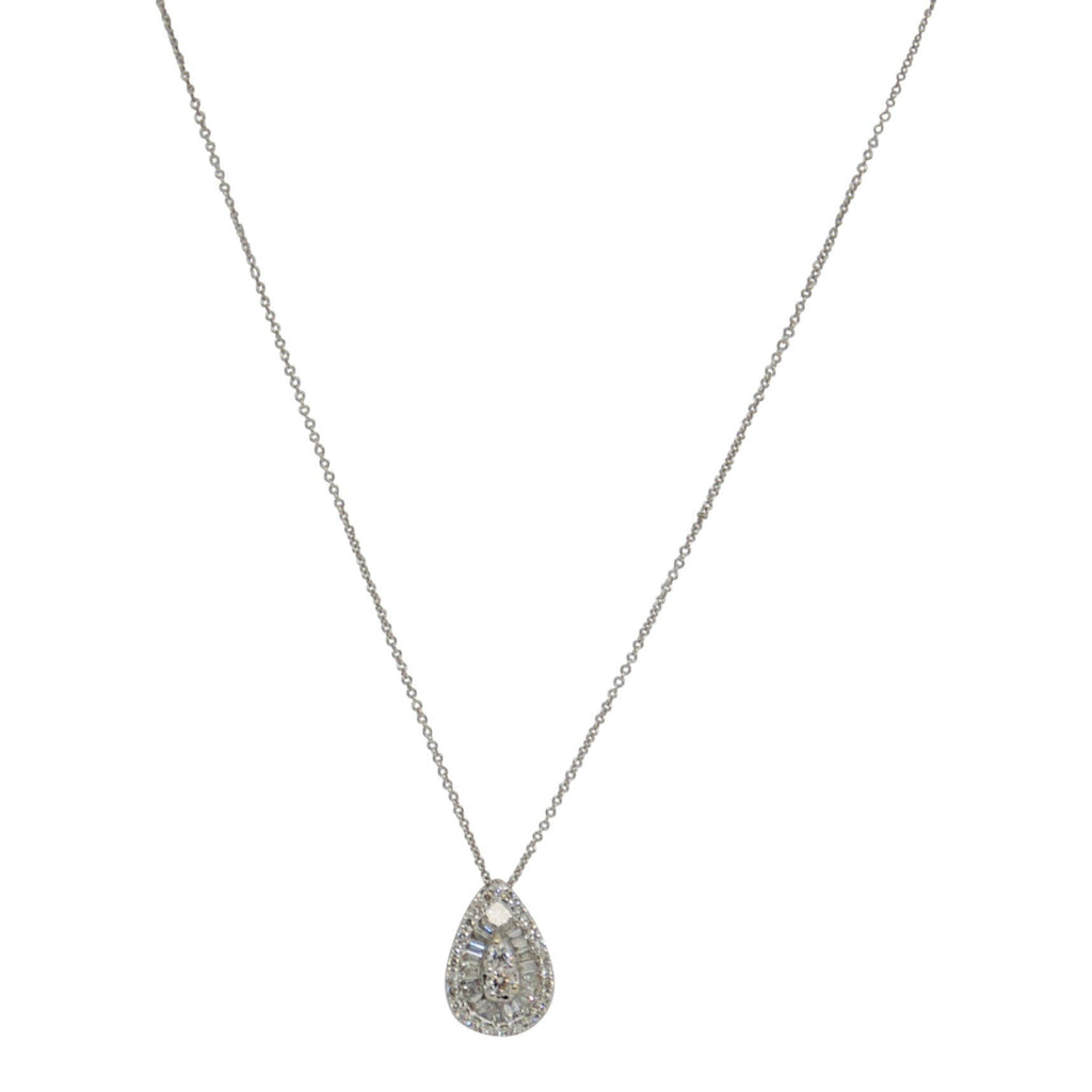 Diamond Cluster Pendant Necklace Necklaces Miscellaneous