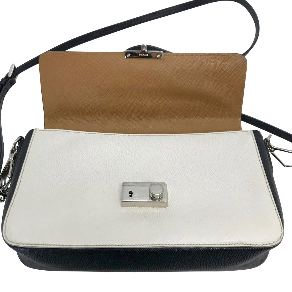 Prada Tricolour Saffiano Sound Crossbody Bag Bags Prada