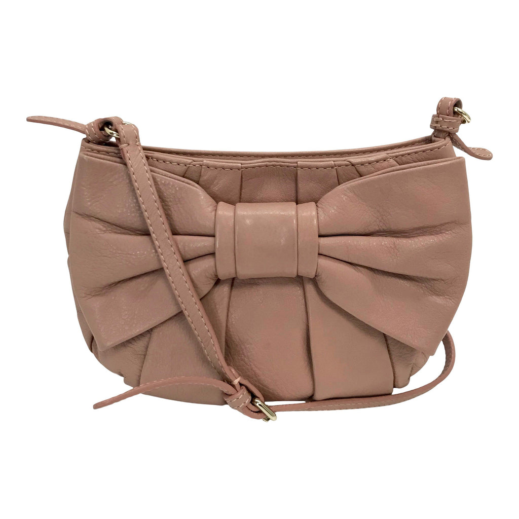 Red Valentino Leather Bow-Accented Crossbody Bag