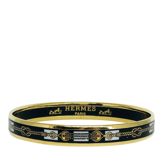 Hermes Narrow Enamel Bangle Bracelets Hermes