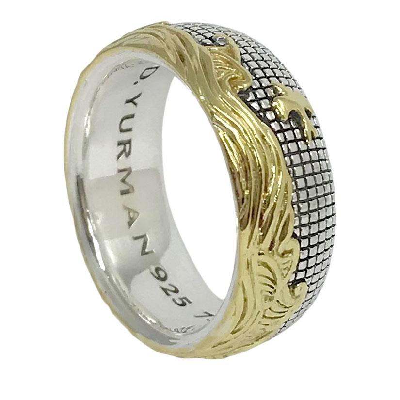 David Yurman Two-Tone Waves Band Ring Men's Jewellery David Yurman