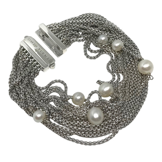 David Yurman Multi-Strand Pearl Chain Bracelet Bracelets David Yurman