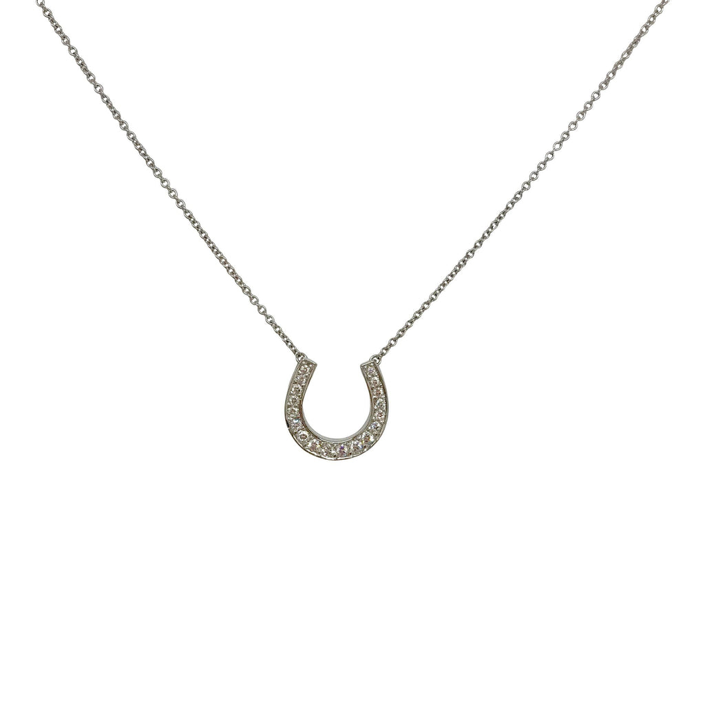 Tiffany & Co. Platinum Diamond Horseshoe Pendant Necklace Necklaces Tiffany & Co.