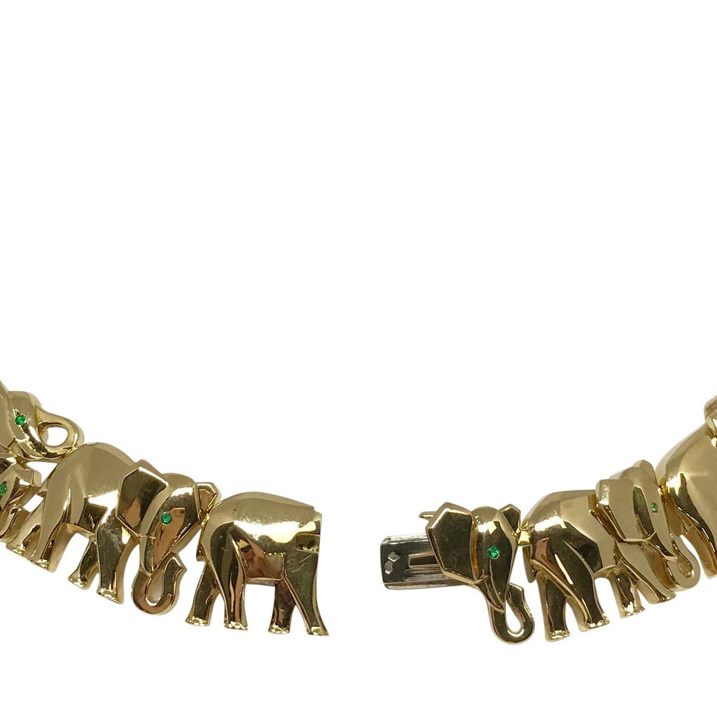 Cartier Rare Khandy Collection Vintage Elephant Necklace