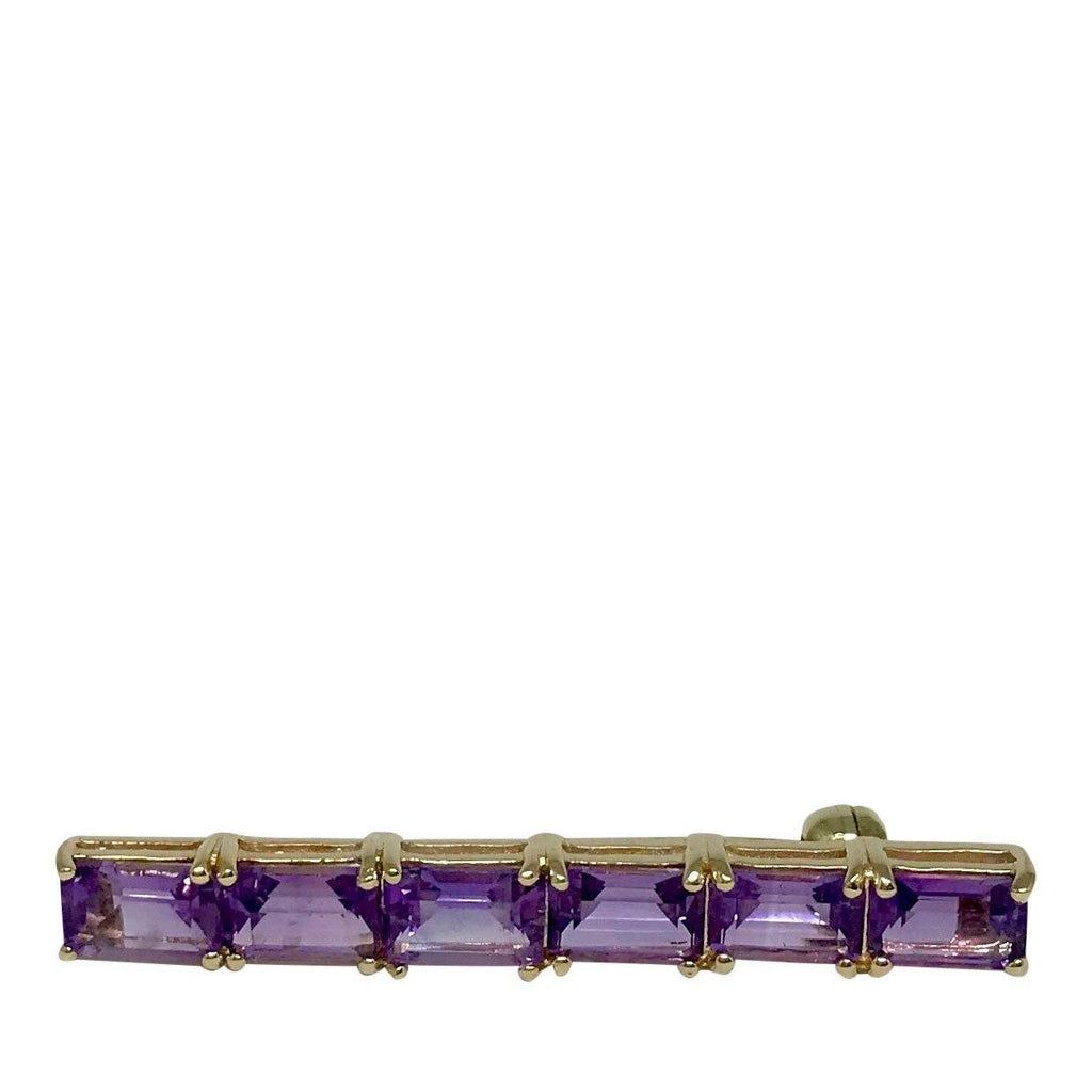Antique Amethyst Bar Brooch